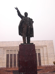Apparently the largest statue of Lenin left in Central Asia