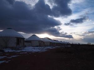 Issyk Kul concrete yurts